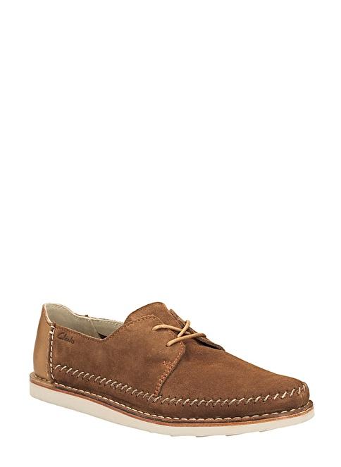 Clarks Bağcıklı Süet Ayakkabı Taba